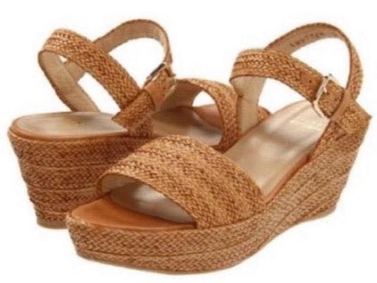 Stuart Weitzman Barbados Raffia Platform Sandal