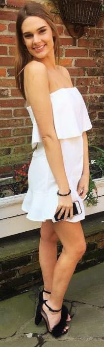 DO+BE White Strapless Dress