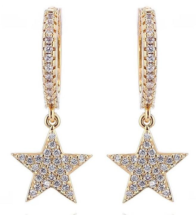 Beaded by Meg Star Mini Hoop Earrings