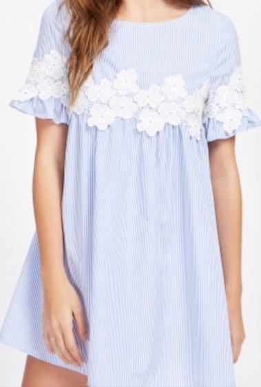 SheIn Pinstripe Babydoll Dress