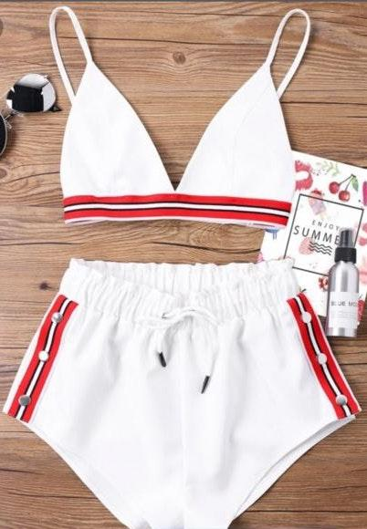 Zaful White  2 Piece,brand New With Tags