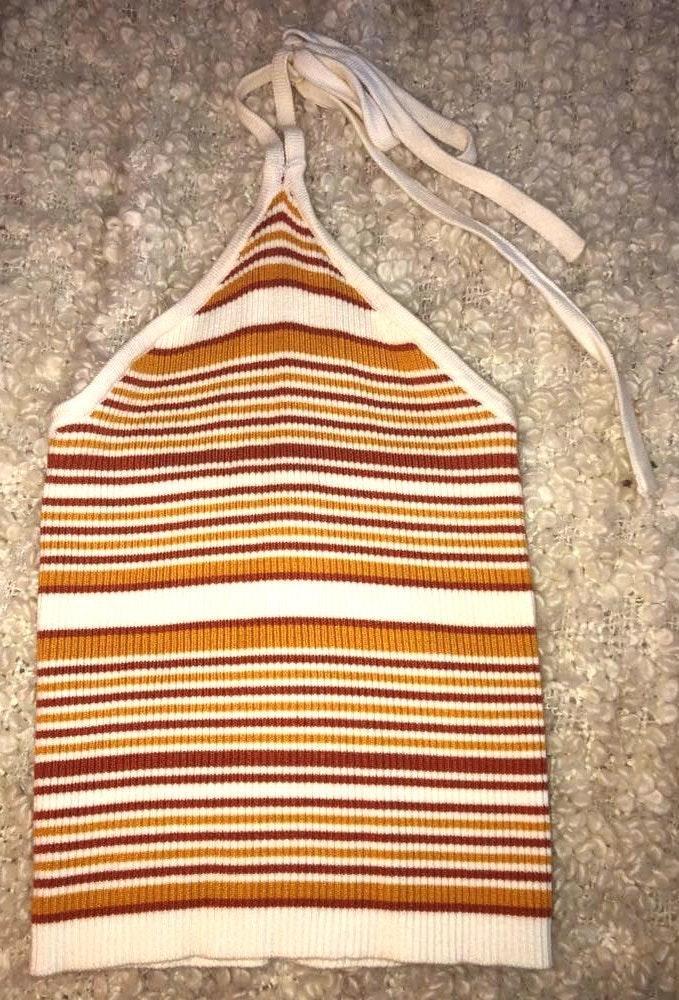 Striped Tie Back Tank