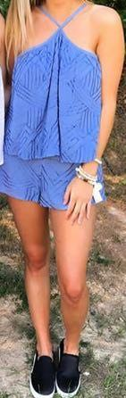 Blue Two Piece