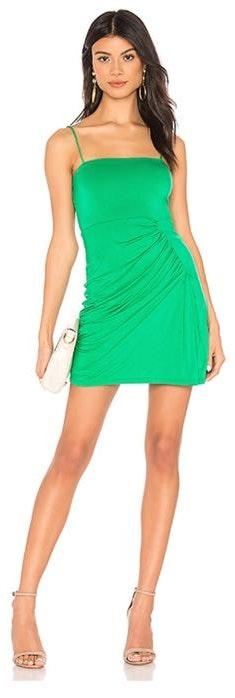 Privacy Please Green Mini Dress