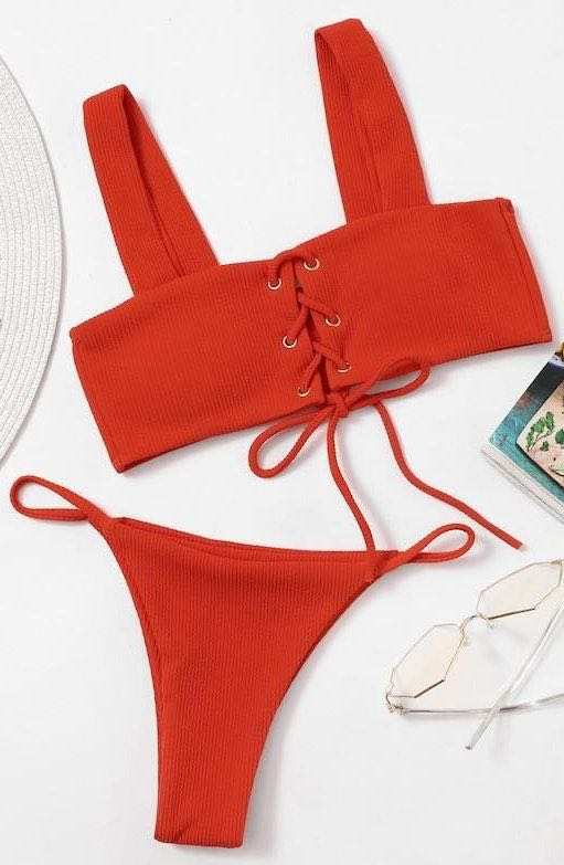 SheIn Red Bikini