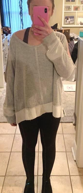 Free People Grey Pullover