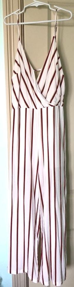 Lush Clothing Striped Jumpsuit