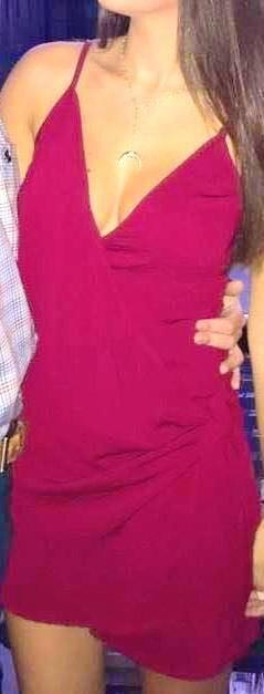 Skylar + Madison burgundy tie front dress