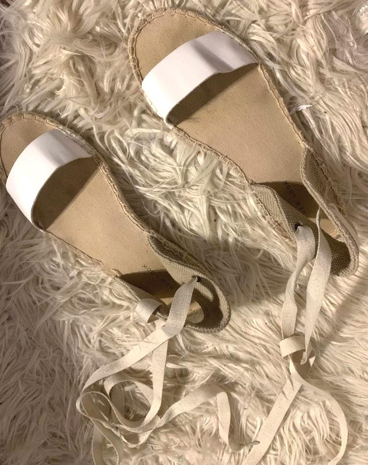 ASOS White Espadrille Sandals