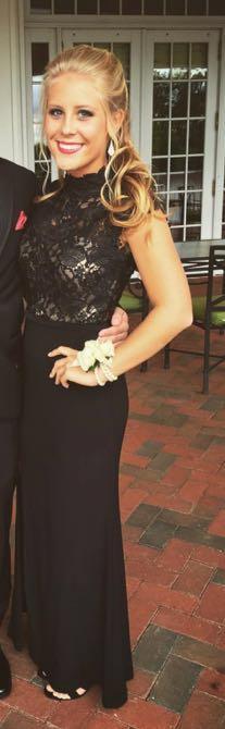 La Femme formal long black dress