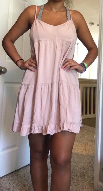d3b6e867cad97 American Eagle Outfitters Ruffle Babydoll Dress   Curtsy
