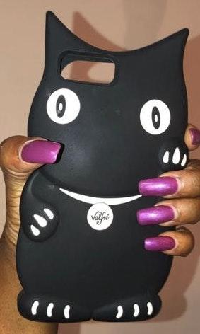 iPhone 8 Plus 7 Plus Valfre Black Kitty Case