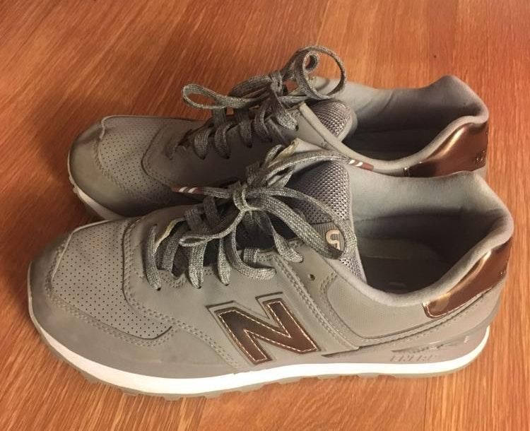 New Balance Grey And Copper 574