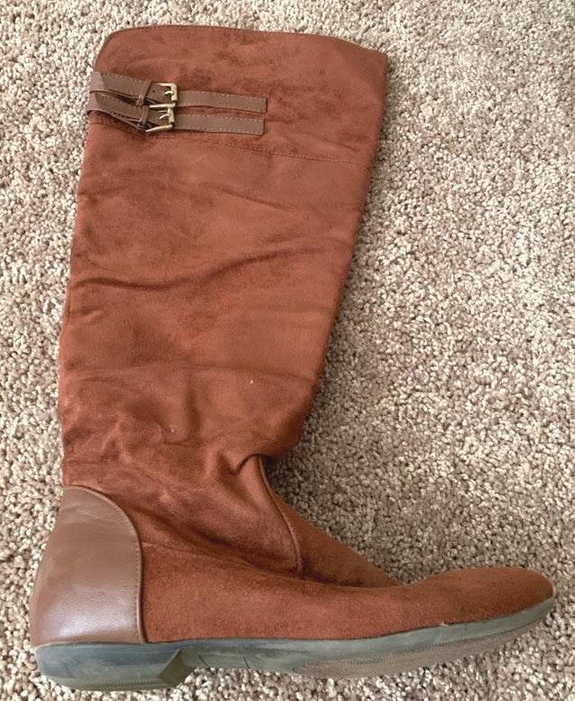 Shoedazzle Cognac Brown Boots