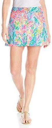 Lilly Pulitzer Nicki Skort in Multi Fan Sea Pants