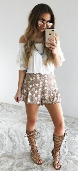 Umgee Summer Days Shorts & Shirt Outfit