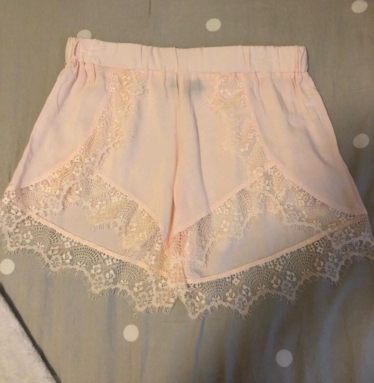 Kendall & Kylie Pink Lace Shorts