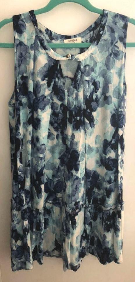 Umgee Blue And White Dress