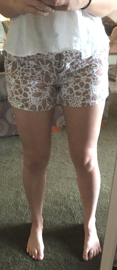 New York & Co. Light Brown/tan Patterned Shorts