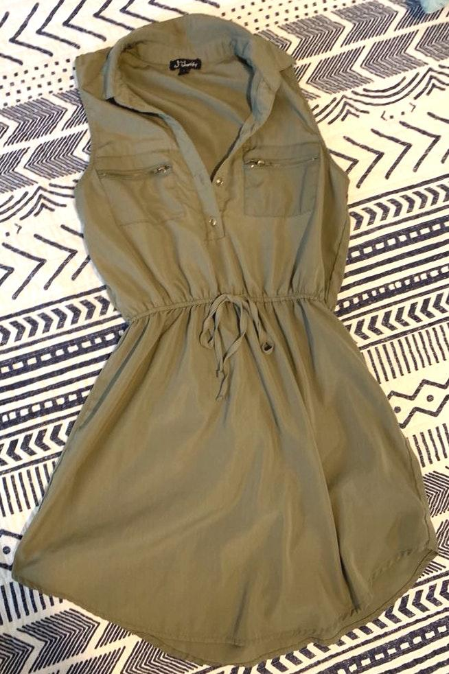 Justify Olive Green Casual  Dress