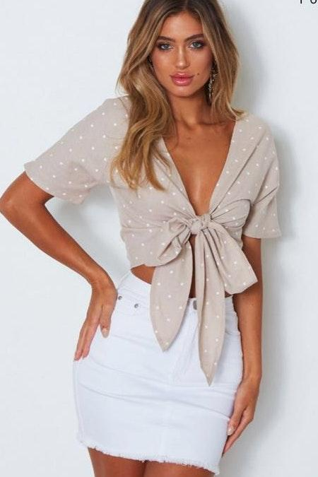 White Fox Boutique Tie Star Top