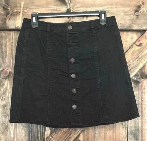Target Black Jean Button Skirt