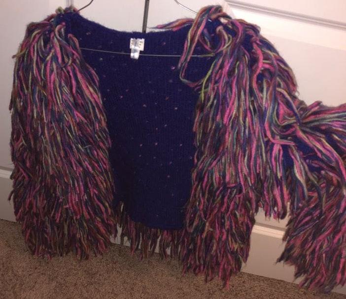 Boutique Fringy Colorful Fun Jacket