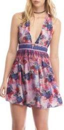 Free People Daydreamin Printed Mini Dress