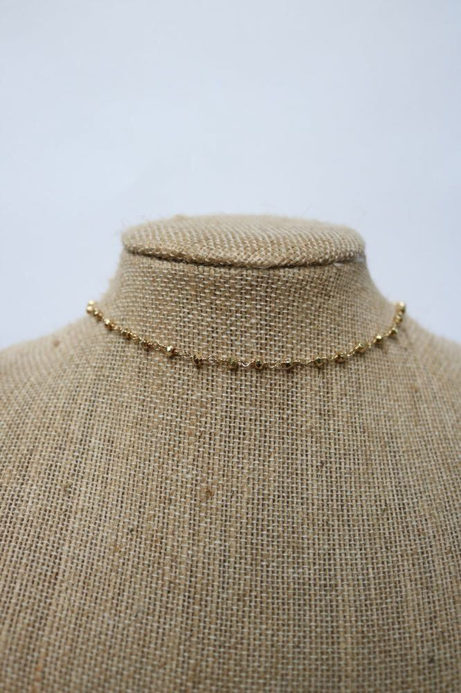 Jaded Jewels Gold Rosary Layer