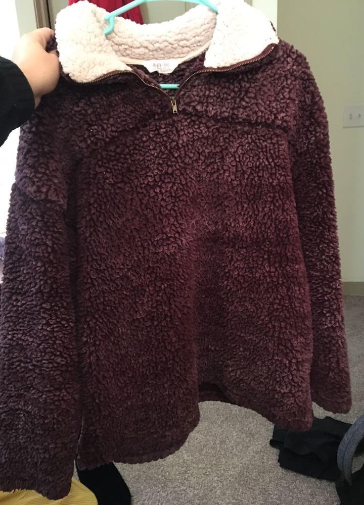 Purple Sherpa Pullover