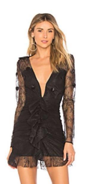 For Love & Lemons Black Cocktail Dress