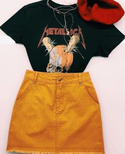 Honey Punch ride with me denim skirt
