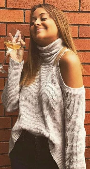 LF Turtle Neck Cut Out Sweater