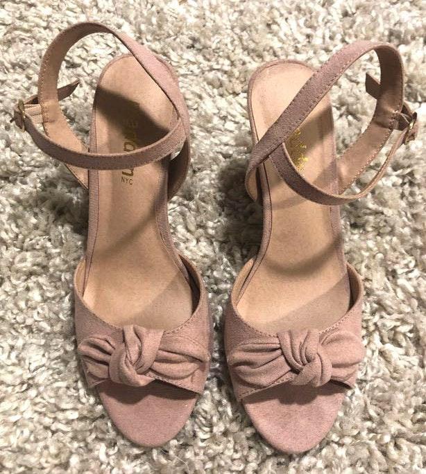 Madden Girl Light Pink Suede Heels