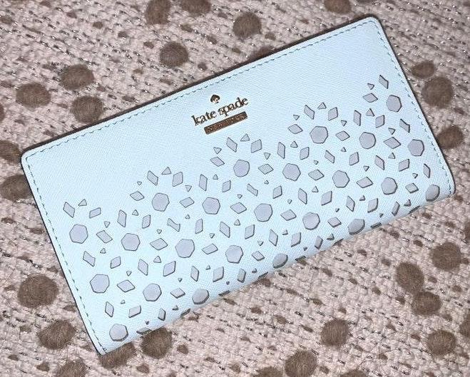 Kate Spade Mint Floral Wallet