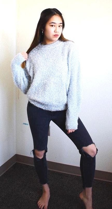 H&M Silver Sparkle Sweater