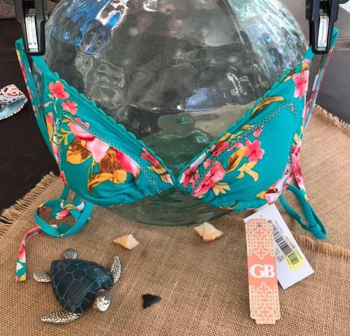 Gianni Bini Flower Triangle Bathing Suit Top