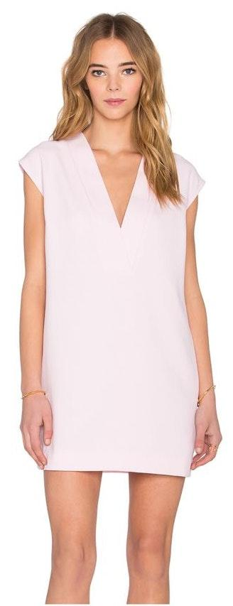Finders Keepers plunge light pink mini dress