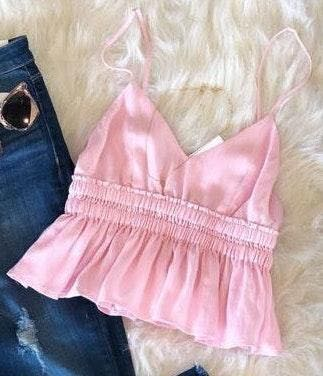 Boutique pink top
