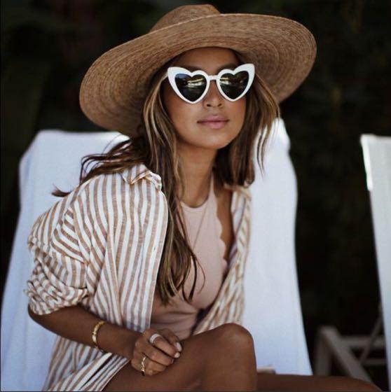 White Heart Shape Sunglasses
