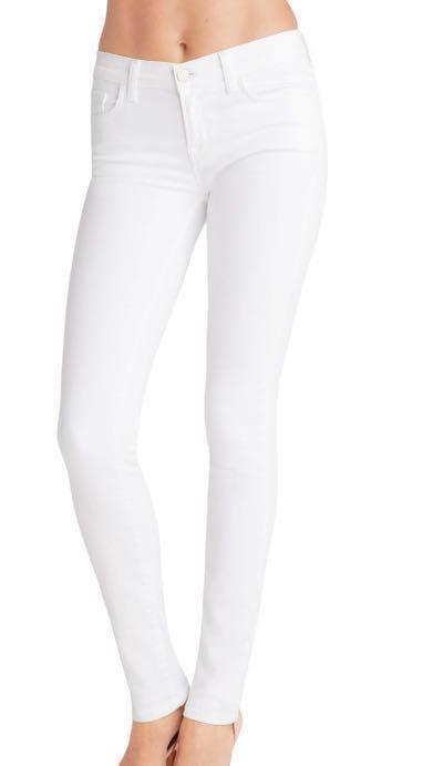 J Brand White Skinny Jeans Size 24