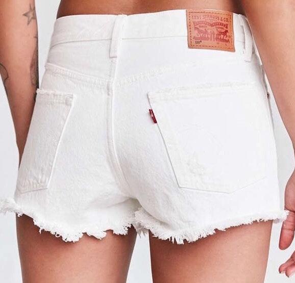 Levi's NWT White  Denim Jean Shorts