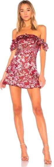 For Love & Lemons Floral Off The Shoulder Dress