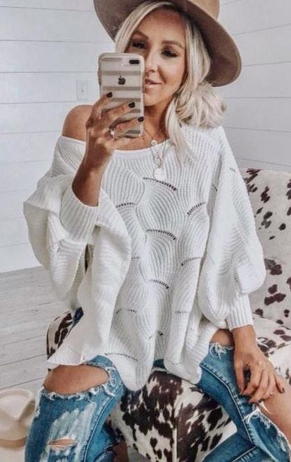 VICI White sweater