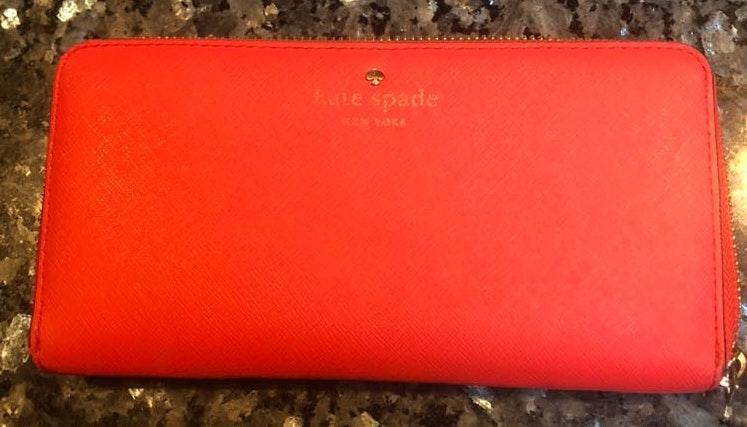Kate Spade Coral Zipper Wallet