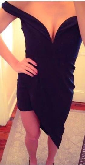 L'ATISTE Black Off The Shoulder Dress