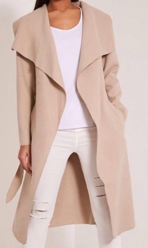 Pretty Little Thing Beige Duster Trench Jacket Coat