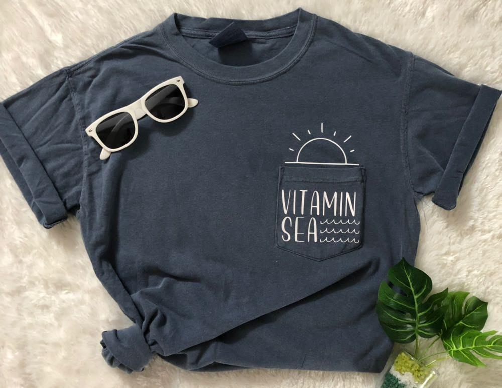 Comfort Colors NEW Vitamin SEA GRAPHIC POCKET TEE
