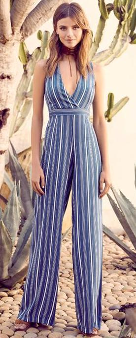 Lulus Montauk Yacht Club Striped Jumpsuit