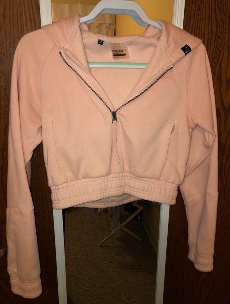 Gymshark Pink Crop Sweatshirt